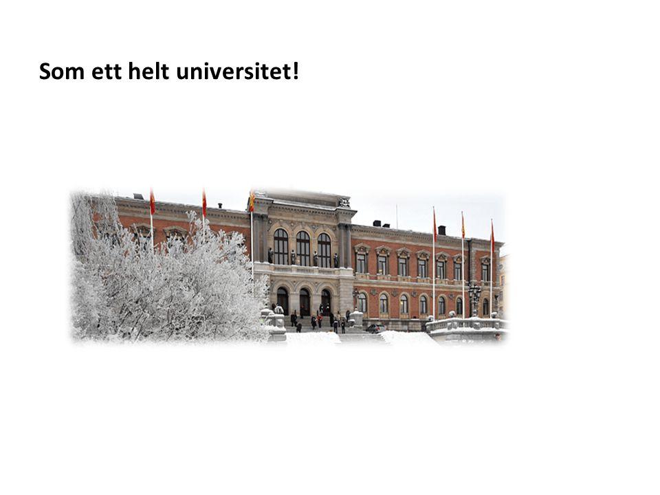 Sv Som ett helt universitet!