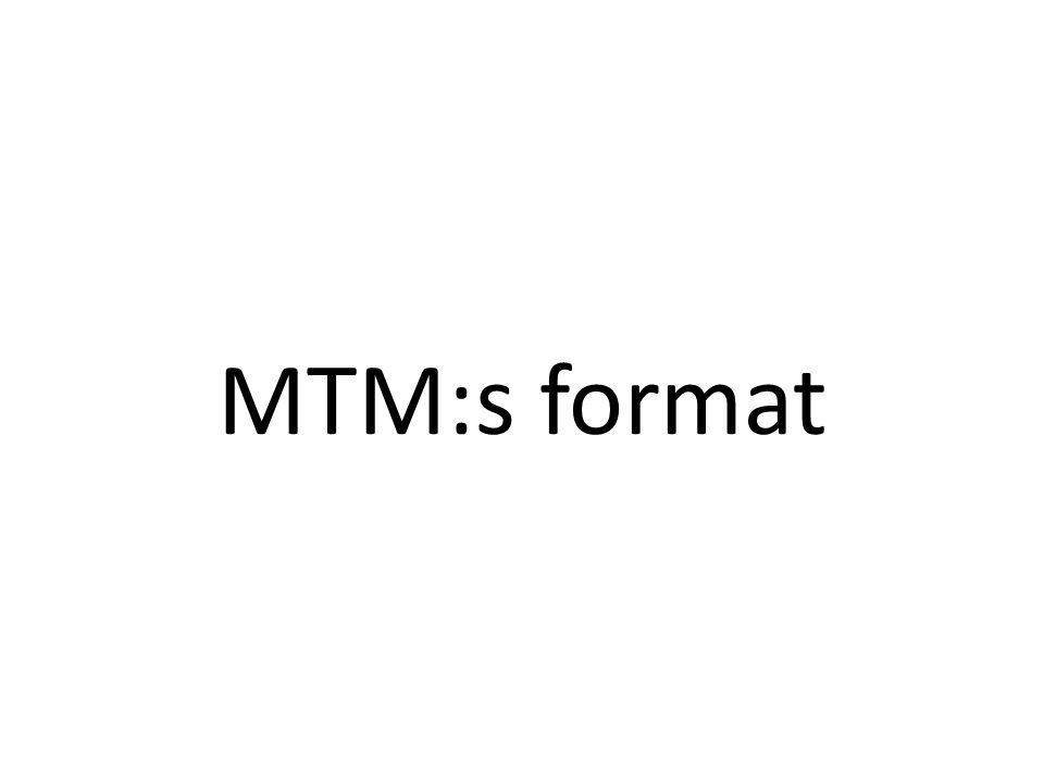 MTM:s format