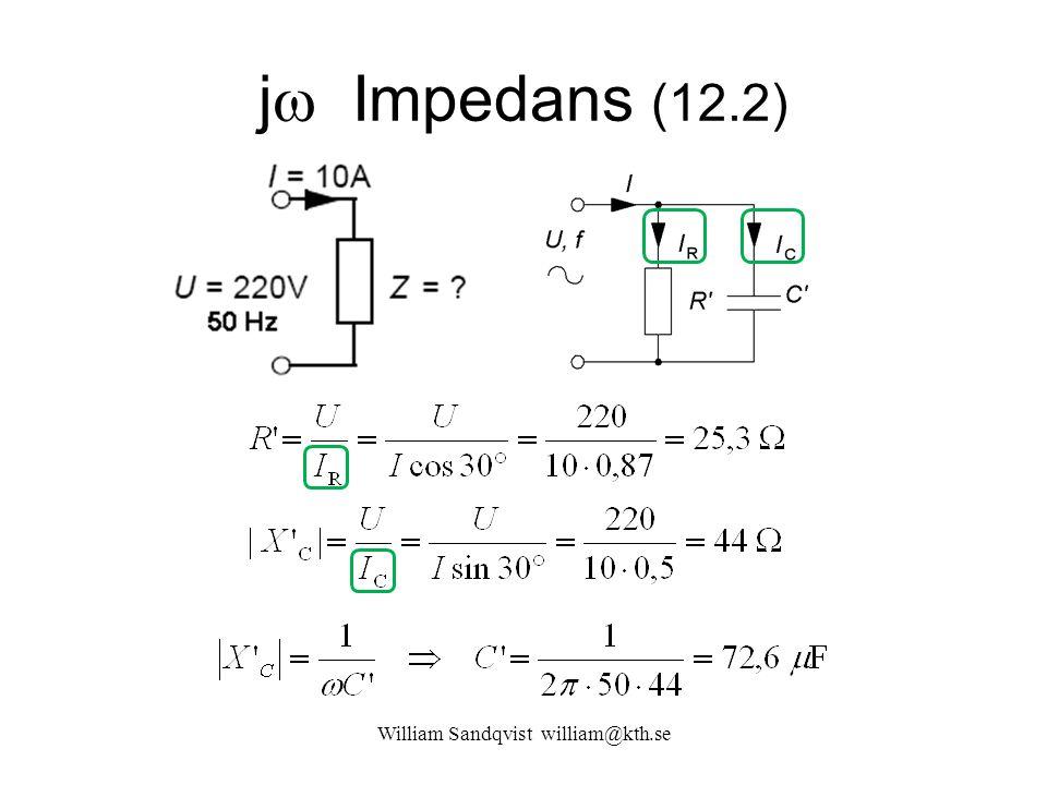 William Sandqvist william@kth.se j  Impedans (12.2)