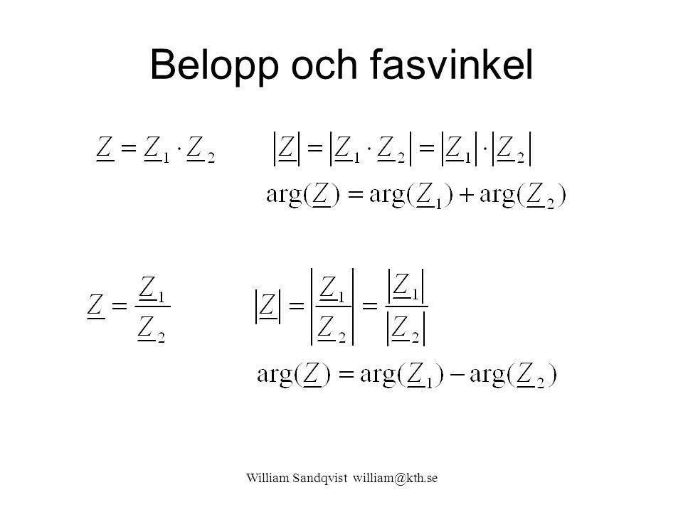 Belopp och fasvinkel William Sandqvist william@kth.se