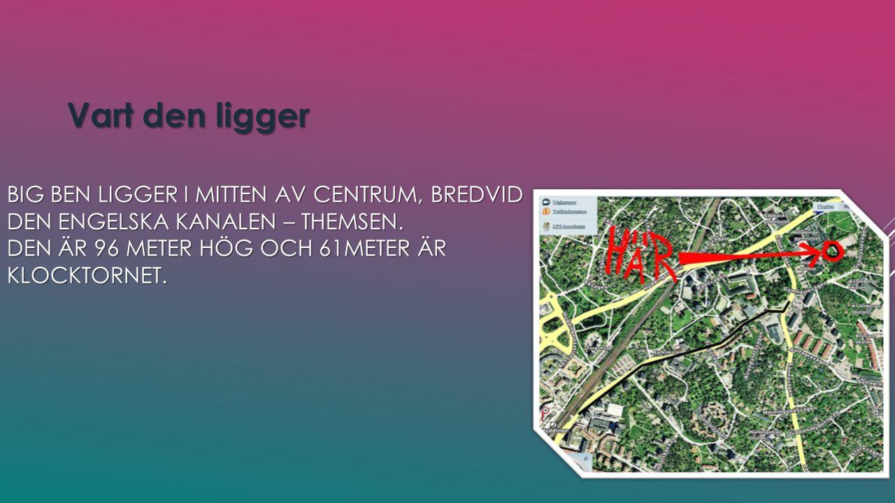 BIG BEN LIGGER I MITTEN AV CENTRUM, BREDVID DEN ENGELSKA KANALEN – THEMSEN.