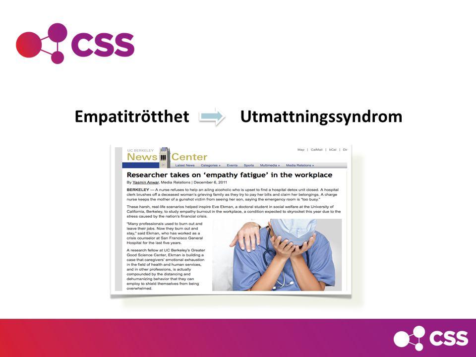 Empatitrötthet Utmattningssyndrom