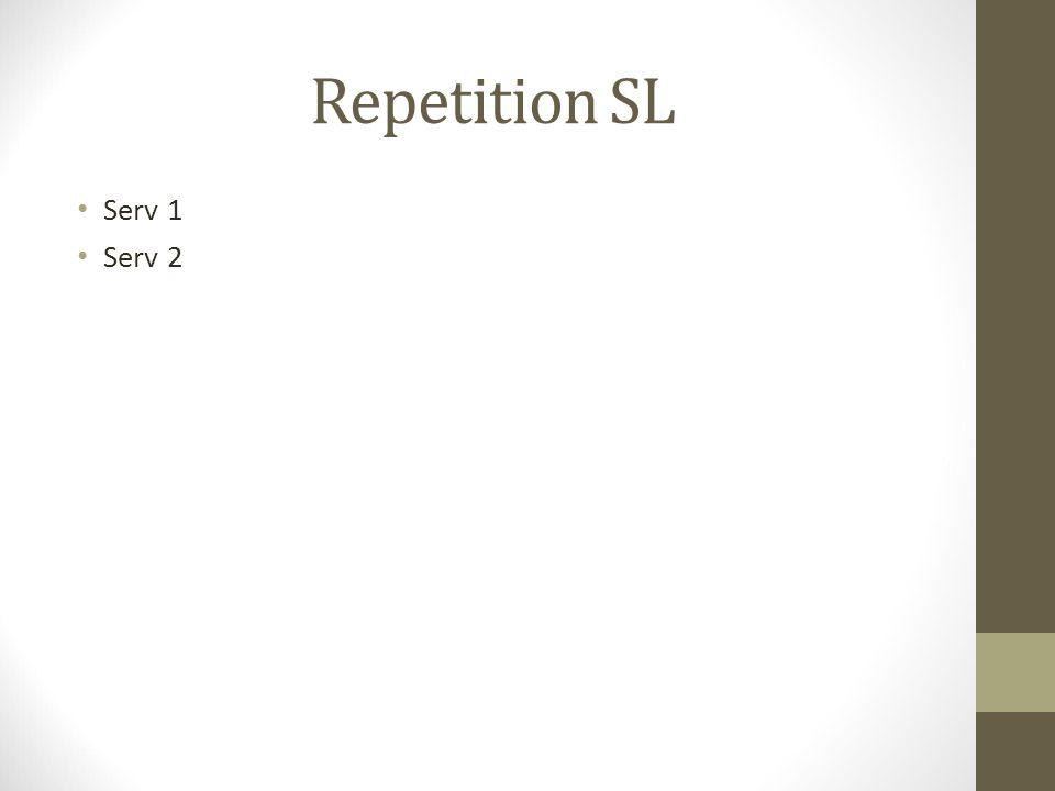 Repetition SL Serv 1 Serv 2