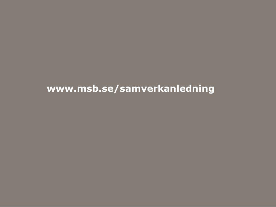 Myndigheten för samhällsskydd och beredskap www.msb.se/samverkanledning