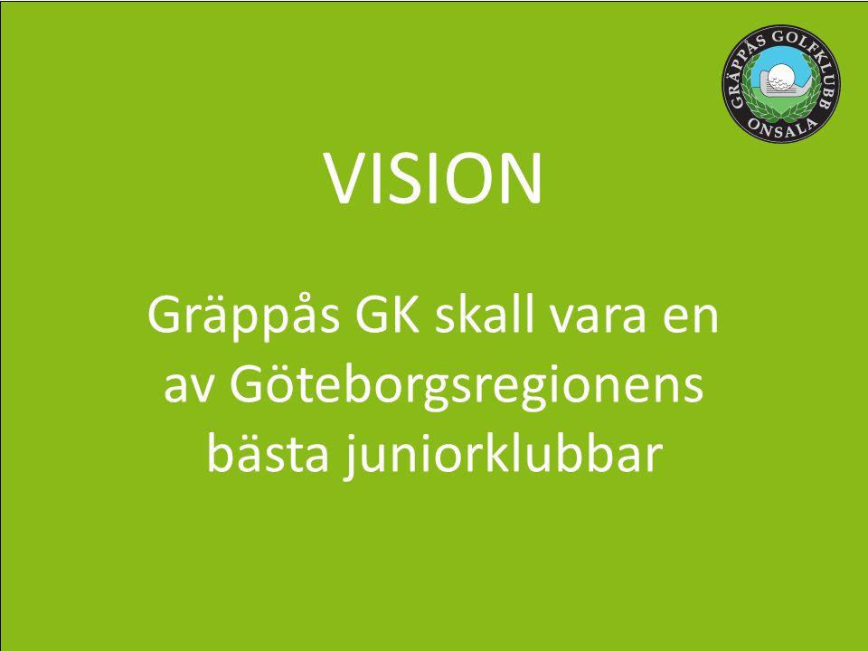 VISION Gräppås GK skall vara en av Göteborgsregionens bästa juniorklubbar
