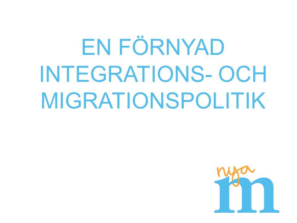 Stärkt integration i ett öppet Sverige EU tar inte sitt ansvar Ordning och reda i asylprocessen Permanenta eller tillfälliga uppehållstillstånd Skärp kravet på försörjning vid anhöriginvandring Ett kostnadseffektivt mottagande Vägen in i samhället Effektiva insatser från dag ett Arbetsmarknaden för utrikes födda Civilsamhällets roll Skolans betydelse för nästa generation