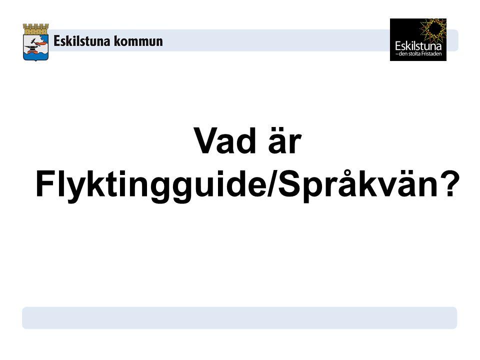 Vad är Flyktingguide/Språkvän?