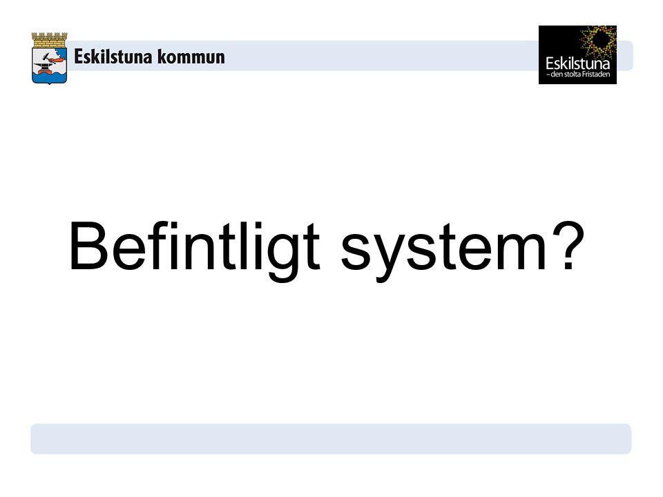 Befintligt system?