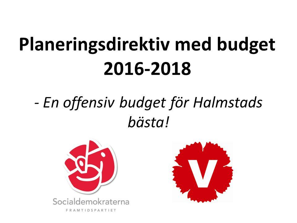 Planeringsdirektiv med budget 2016-2018 - En offensiv budget för Halmstads bästa!