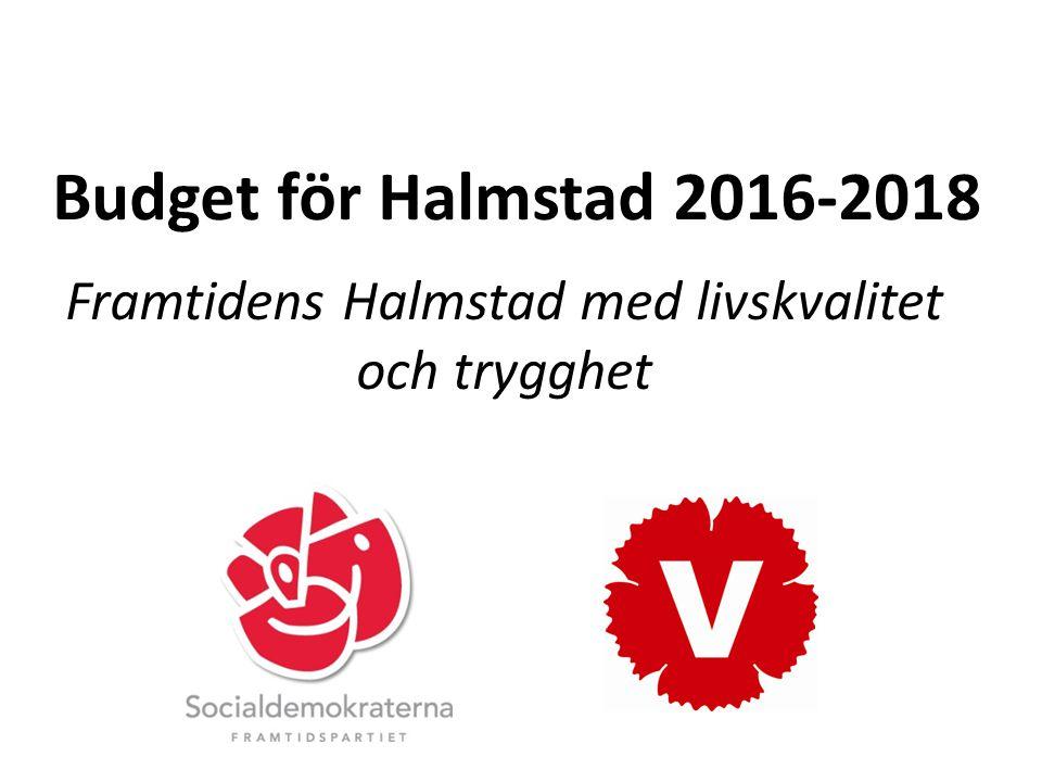 Budget för Halmstad 2016-2018 Framtidens Halmstad med livskvalitet och trygghet