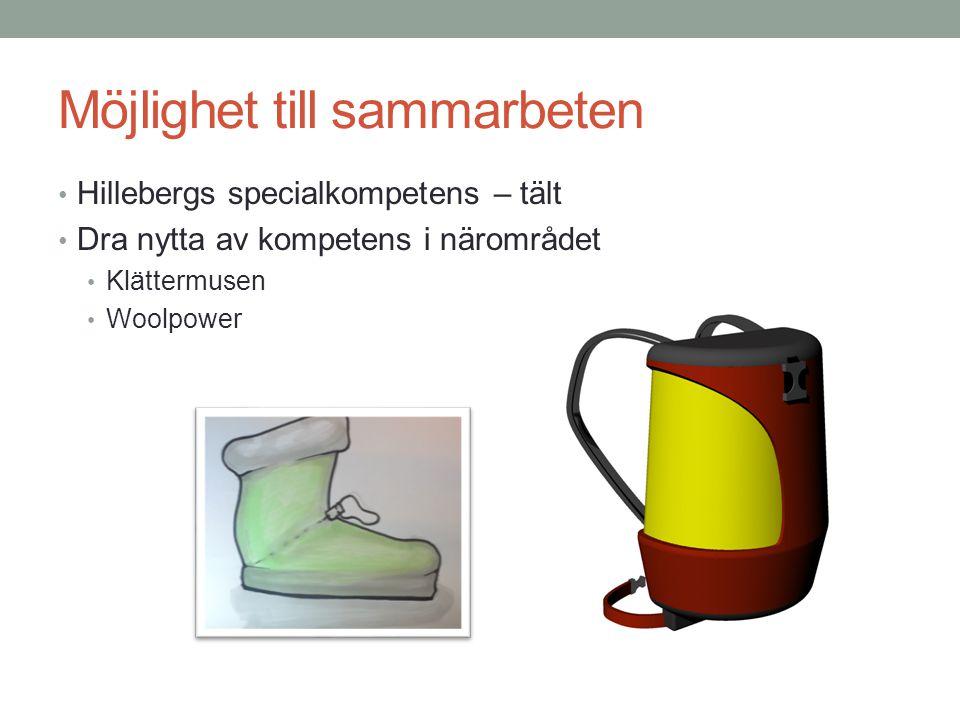 Möjlighet till sammarbeten Hillebergs specialkompetens – tält Dra nytta av kompetens i närområdet Klättermusen Woolpower