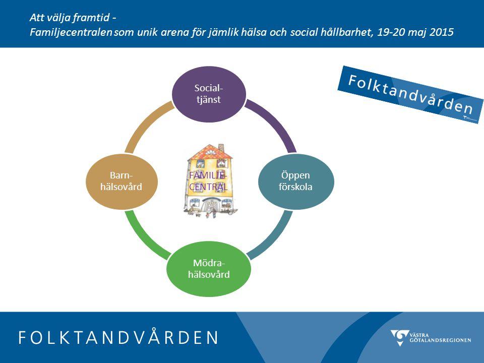 FAMILJE- CENTRAL Social- tjänst Öppen förskola Mödra- hälsovård Barn- hälsovård Att välja framtid - Familjecentralen som unik arena för jämlik hälsa och social hållbarhet, 19-20 maj 2015