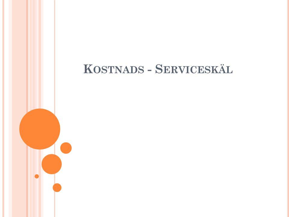 K OSTNADS - S ERVICESKÄL