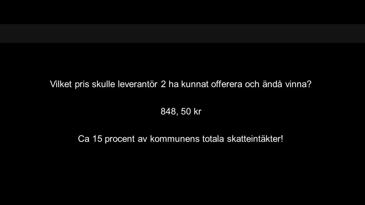 848, 50 kr Ca 15 procent av kommunens totala skatteintäkter!