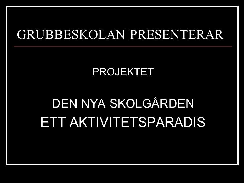 GRUBBESKOLAN PRESENTERAR PROJEKTET DEN NYA SKOLGÅRDEN ETT AKTIVITETSPARADIS