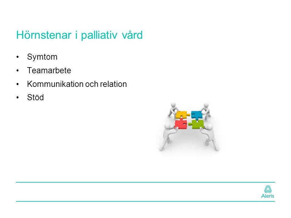 Hörnstenar i palliativ vård Symtom Teamarbete Kommunikation och relation Stöd