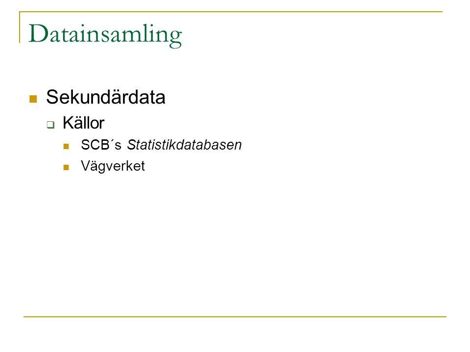 Resultat – Frågeställning 2 fortsättning Nollhypoteser:  Det är lika stor risk att omkomma i trafiken oberoende av ålder på trafikanten  Det är lika stor risk att skadas svårt i trafiken oberoende av ålder Chi-2 större än P-Värde i alla fall förutom omkomma i Östergötland och Norrbotten