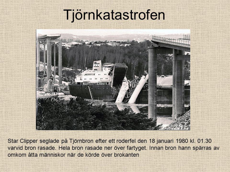 Tjörnkatastrofen Star Clipper seglade på Tjörnbron efter ett roderfel den 18 januari 1980 kl.