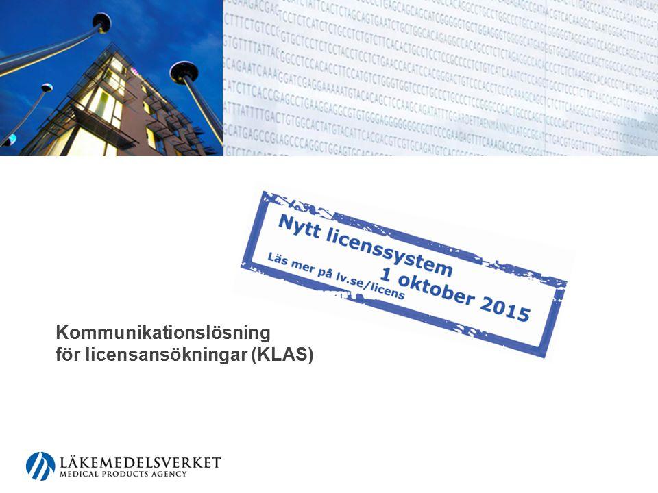 Kommunikationslösning för licensansökningar (KLAS)