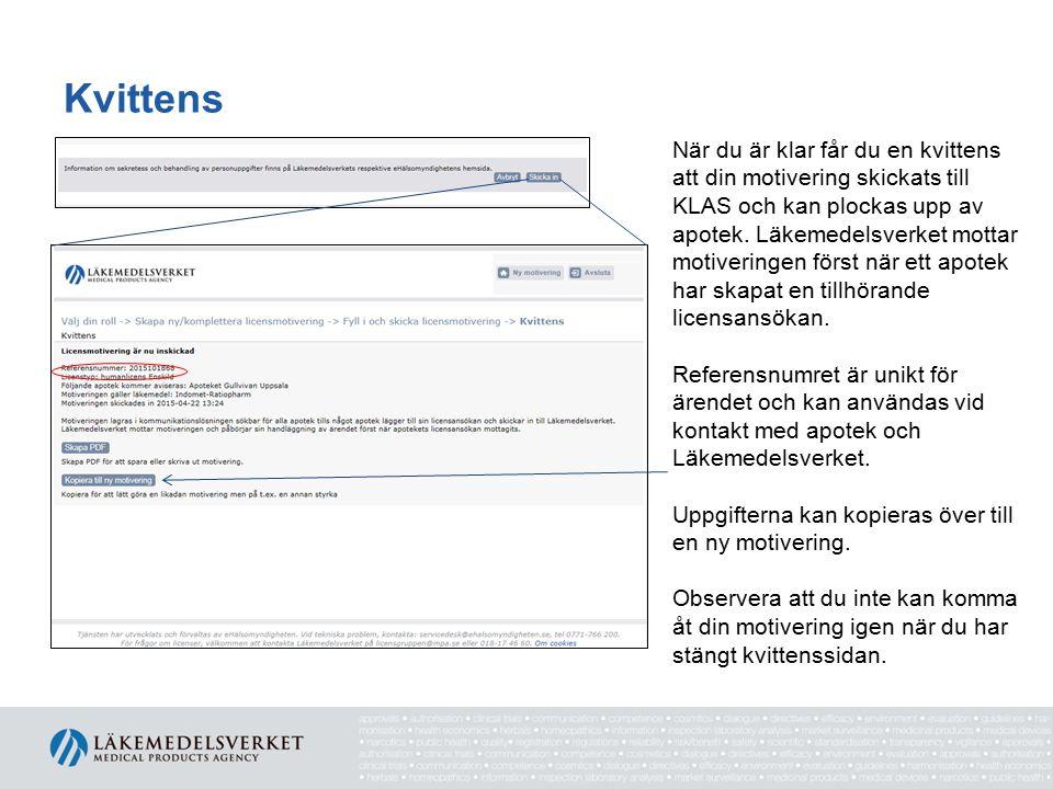 Spara din motivering För att spara din motivering skapar du en PDF via knappen Skapa PDF .