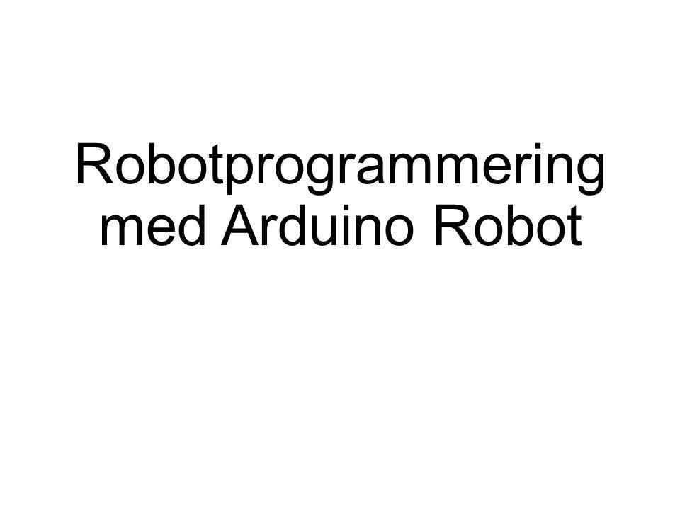 Arduino Robot 2 st Arduino datorer Kontrolldator – hanterar sensorer och input Motordator – hanterar motorstyrningen 2 Motorer för styrning och framdrift 5 knappar och potentiometer 5 st linjesensorer 1 st IR-mottagare (egen lösning) LCD-Panel för utskrift av text
