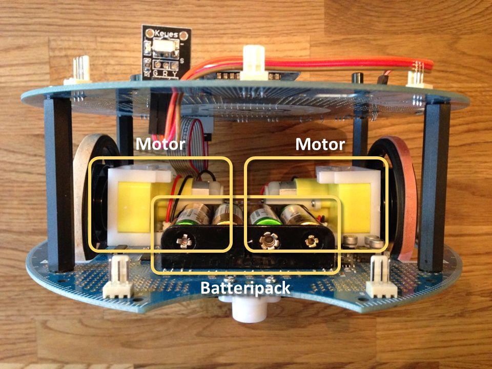 Programmering av Robot Låt roboten vara avstängd vi programmering Strömbrytare OFF på undre kortet Innan körning dra ut USB-kontakt Sätt Roboten på golvet Slå på strömbrytare (ON) Programmet startar automatiskt TIPS Kan vara bra att skriva programmet, så det startar efter knapptryckning (exempel senare)