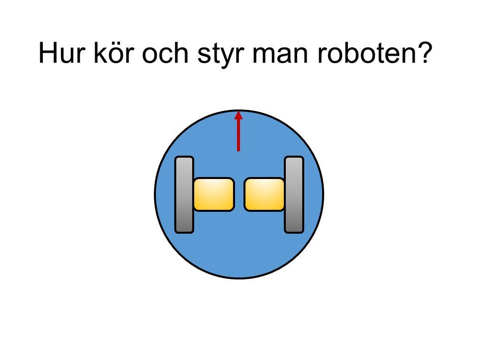 Köra roboten void loop() { Robot.motorsWrite(255, 255); delay(2000); Robot.motorsStop(); delay(1000); Robot.motorsWrite(-255, -255); delay(1000); Robot.motorsWrite(0, 0); delay(1000); Robot.motorsWrite(-255, 255); delay(2000); Robot.motorsStop(); delay(1000); Robot.motorsWrite(255, -255); delay(2000); Robot.motorsStop(); delay(1000); }
