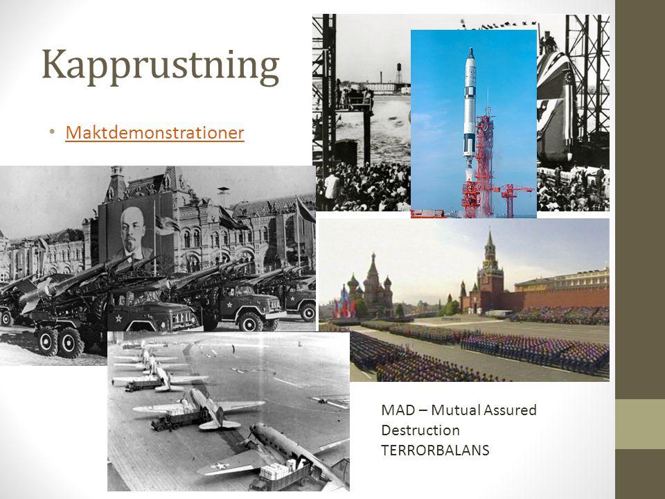 Kallt krig – eller inte.USA och Sovjetunionen krigade aldrig hemma , men ofta borta.