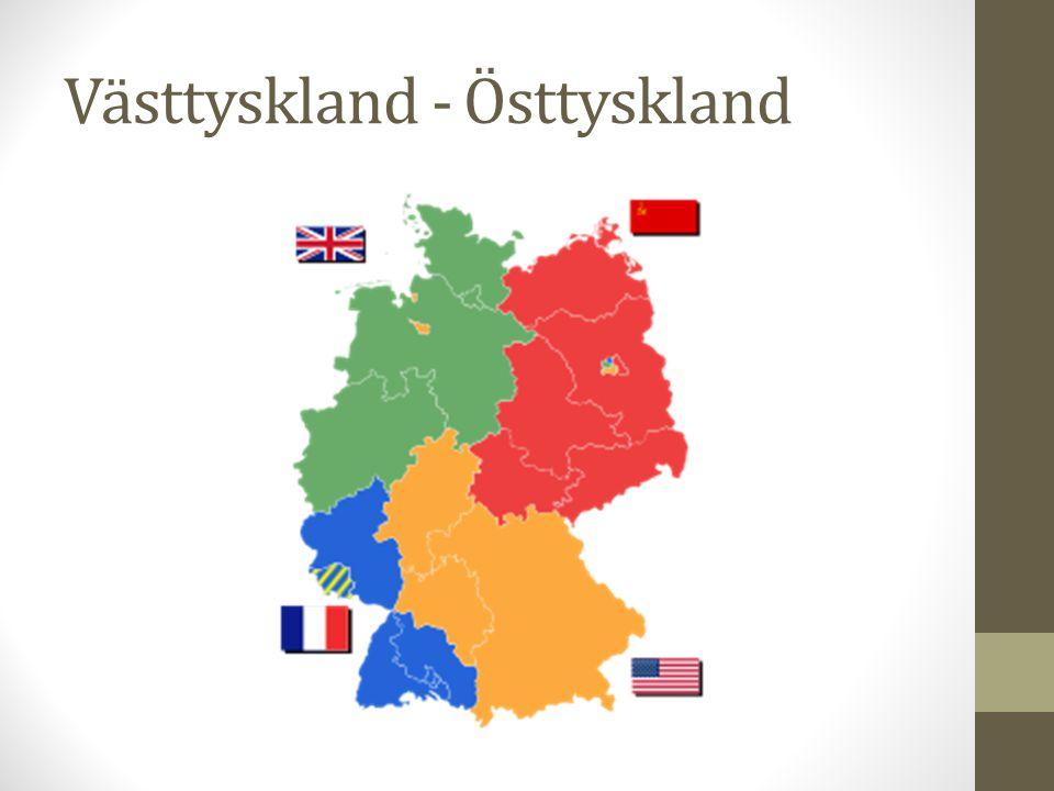 Västtyskland - Östtyskland