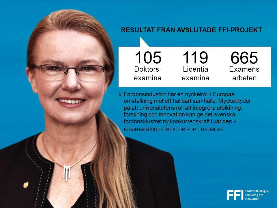 Doktors- examina 105119 Licentia examina 665 Examens arbeten «Fordonsindustrin har en nyckelroll i Europas omställning mot ett hållbart samhälle.