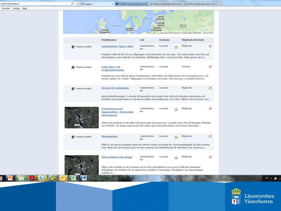 Trender i Västerbotten Få kommuner med naturvårdare/ kommunekologer.