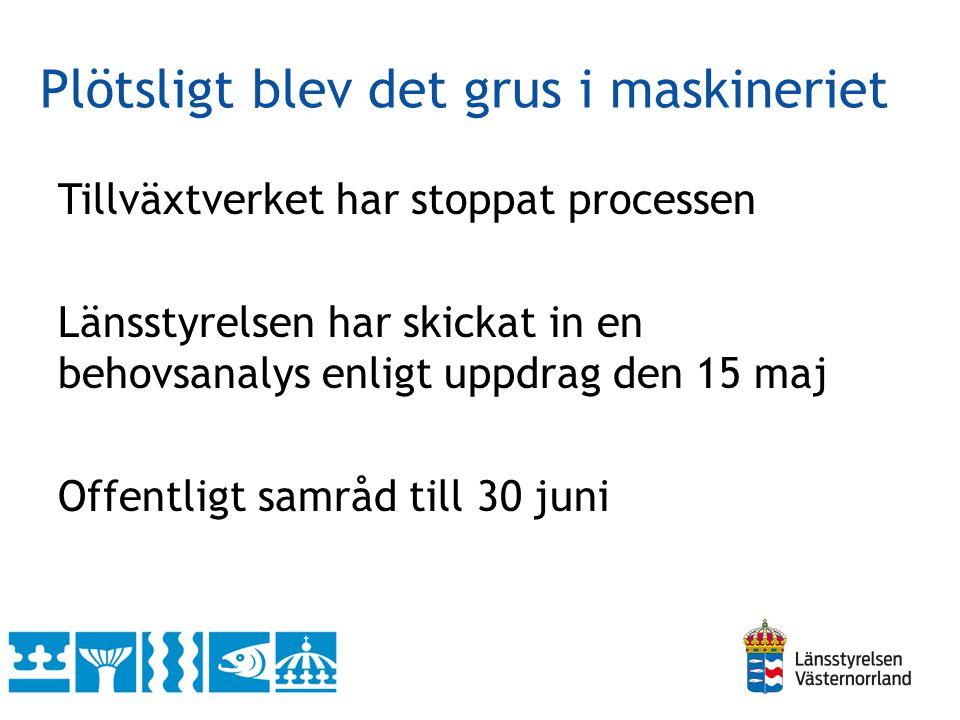 forts Öppen ansökningsomgång 1/7 – 31/8 Beslutsdatum/projektstart beroende på utfall av ansökningsomgången