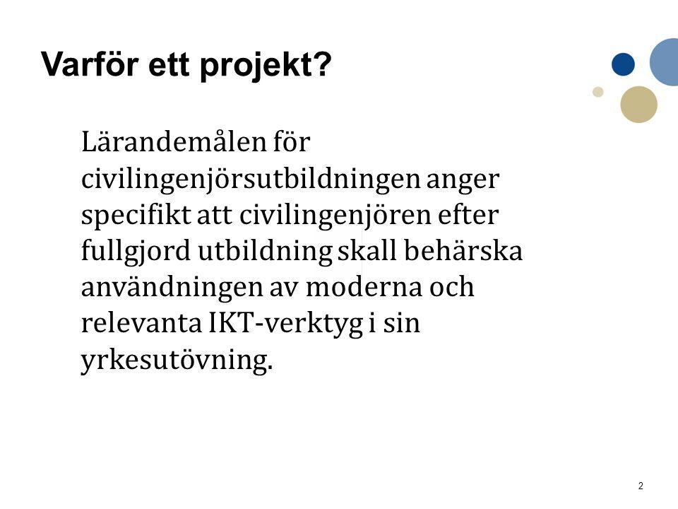 3 Genomförande Pilot 2012.Projekt 2013-2015.