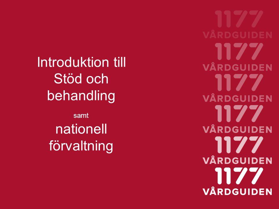 Introduktion till Stöd och behandling nationell förvaltning samt