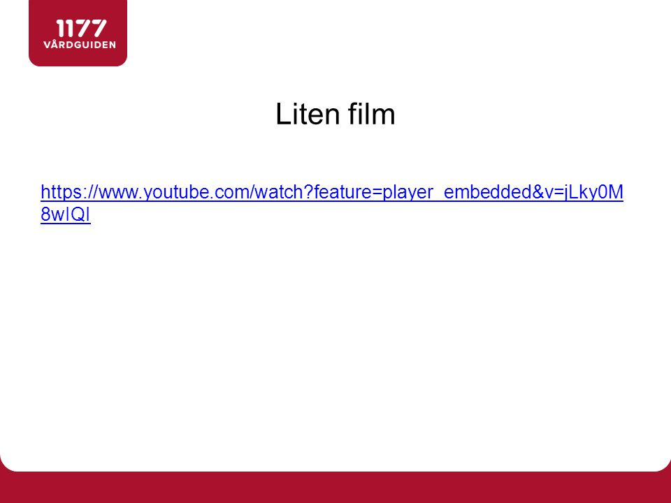 Liten film https://www.youtube.com/watch?feature=player_embedded&v=jLky0M 8wIQI