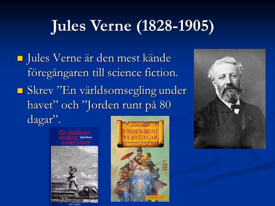 Jules Verne är den mest kände föregångaren till science fiction.