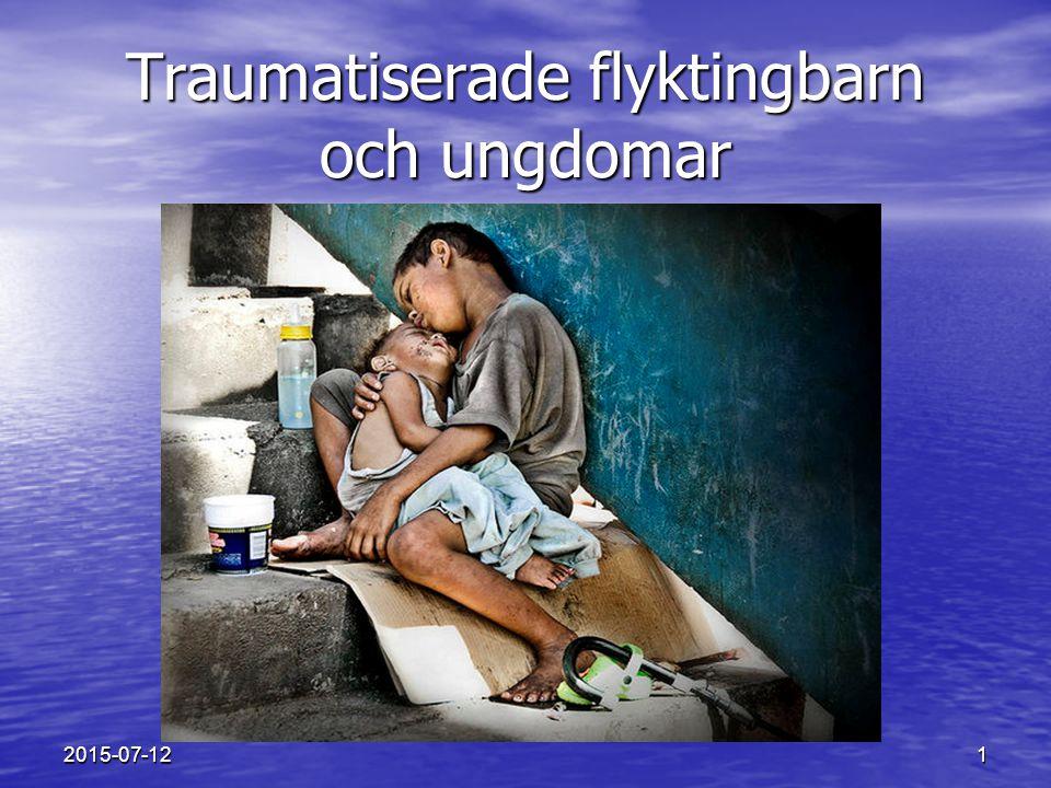 2 Ensamkommande flyktingbarn Ensamkommande flyktingbarn Psykiska följdverkningar av krig och tortyr med fokus på posttraumatisk stress.