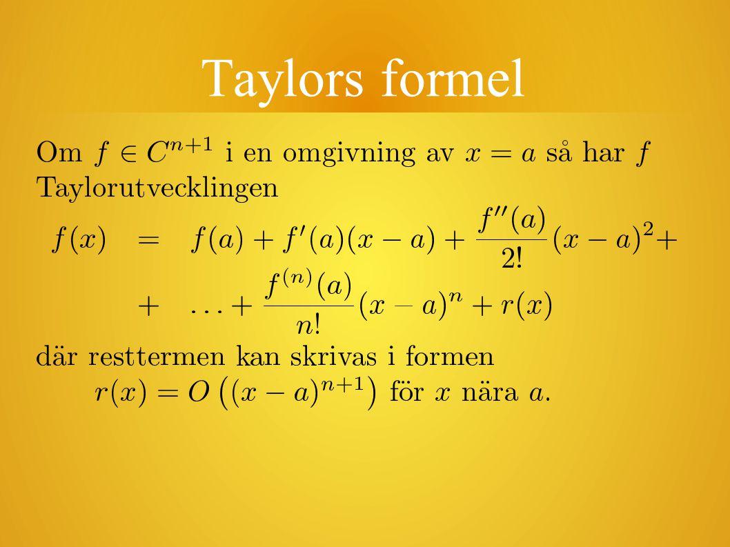 Taylors formel