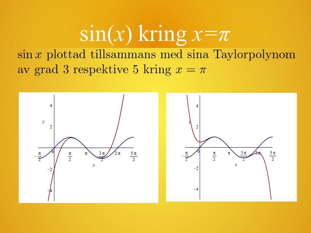 sin(x) kring x=π