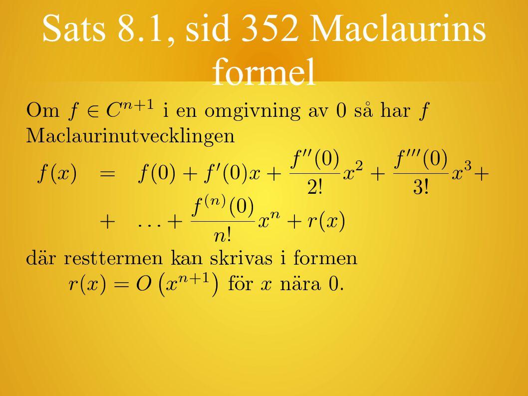 Maclaurin-polynomet Polynomet