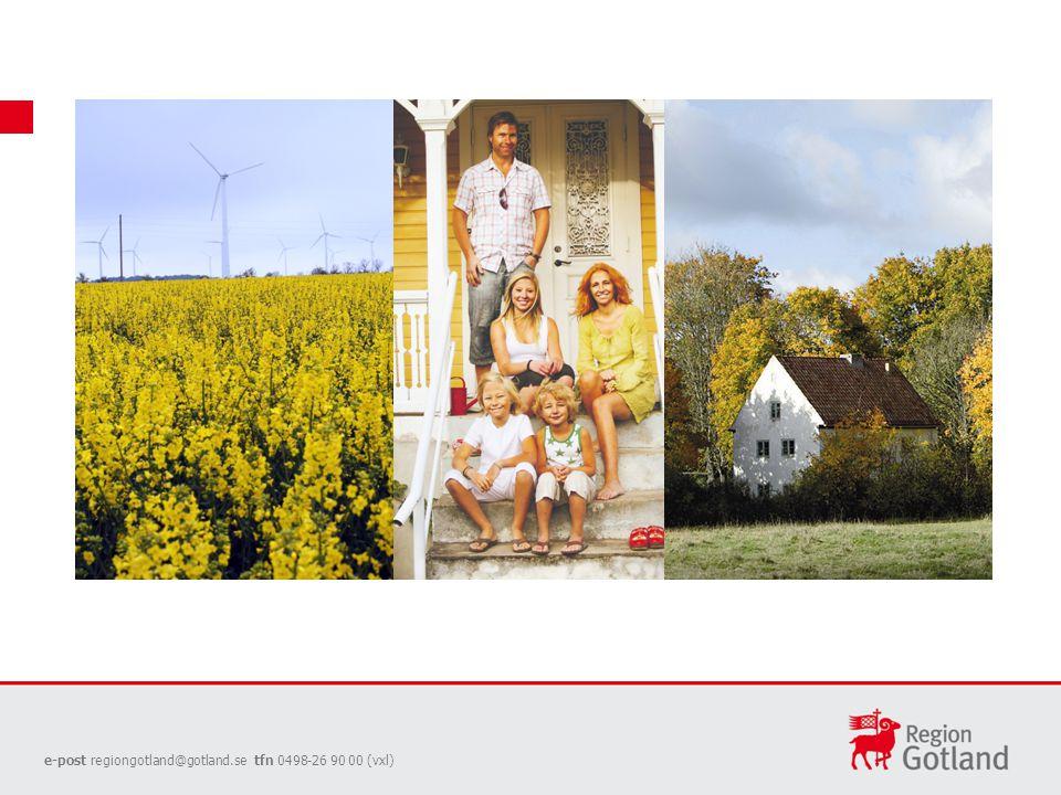Ekokommun Gotland Gotland ska vara ett ekologiskt hållbart samhälle till år 2025.