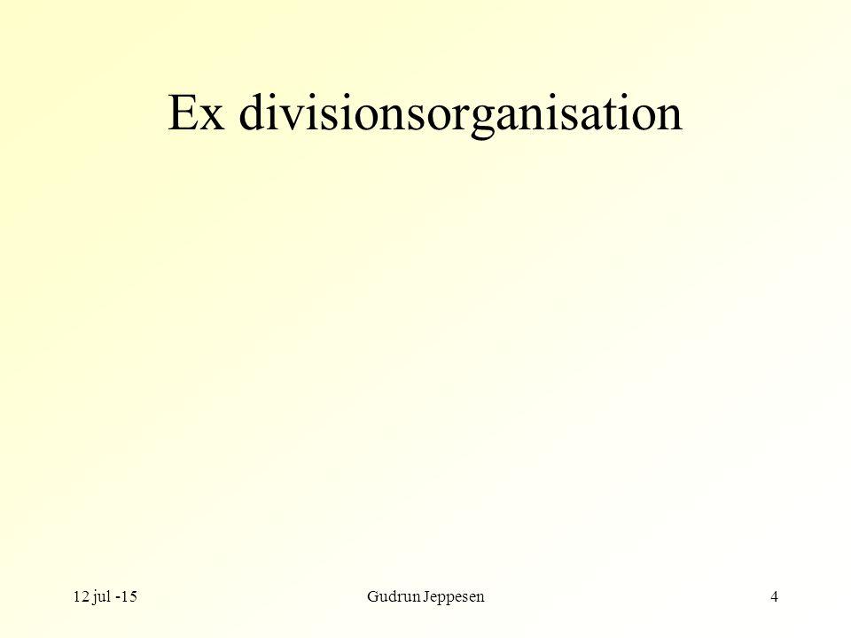 12 jul -15Gudrun Jeppesen4 Ex divisionsorganisation