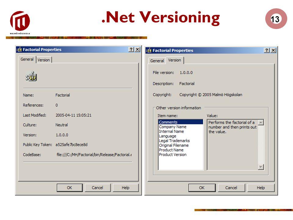 13.Net Versioning