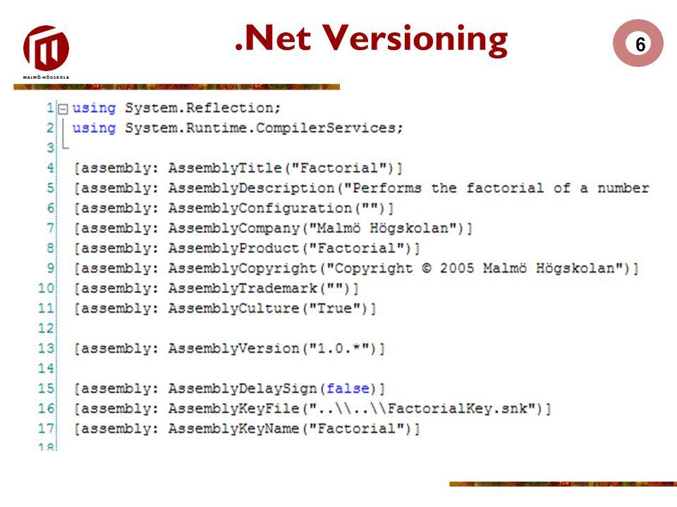 6.Net Versioning