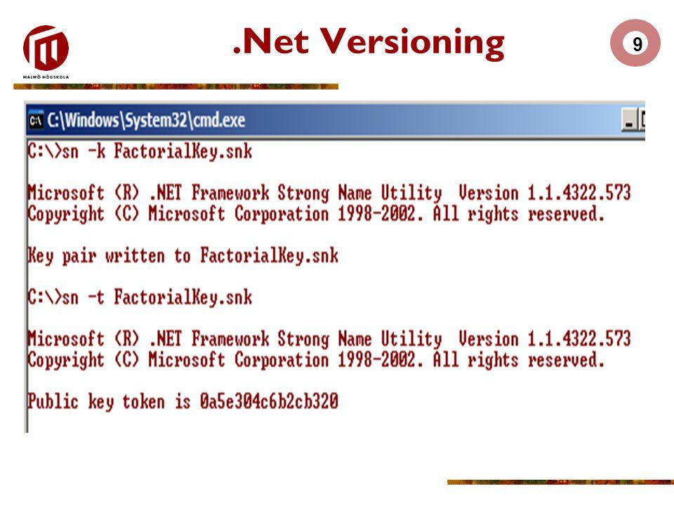 9.Net Versioning