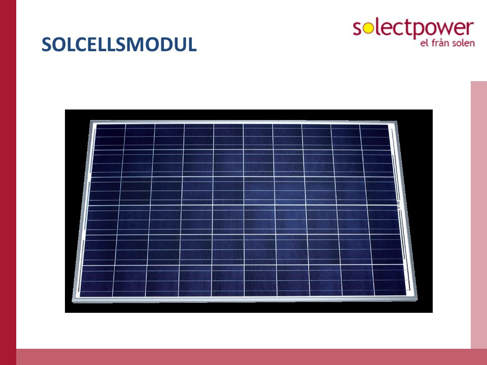 SOLCELLSMODUL