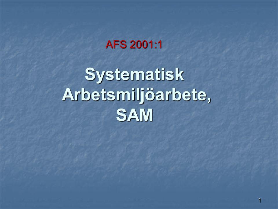 1 AFS 2001:1 Systematisk Arbetsmiljöarbete, SAM