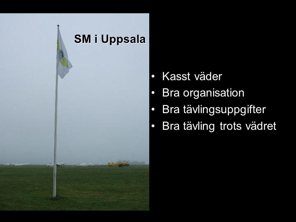 SM i Uppsala Kasst väder Bra organisation Bra tävlingsuppgifter Bra tävling trots vädret