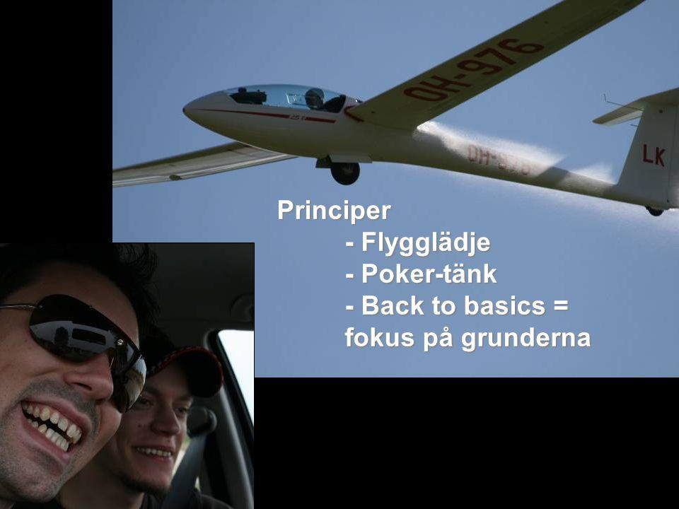 Principer - Flygglädje - Poker-tänk - Back to basics = fokus på grunderna