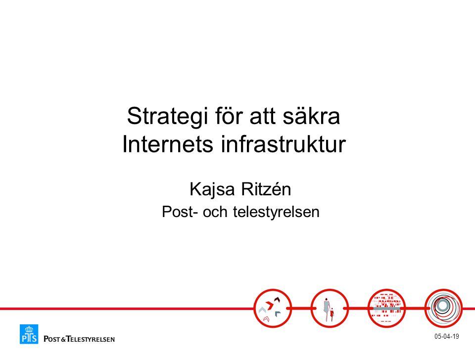 05-04-19 Strategi för att säkra Internets infrastruktur Kajsa Ritzén Post- och telestyrelsen